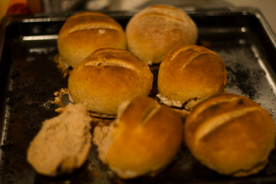 Fresh rye bread rolls recipe