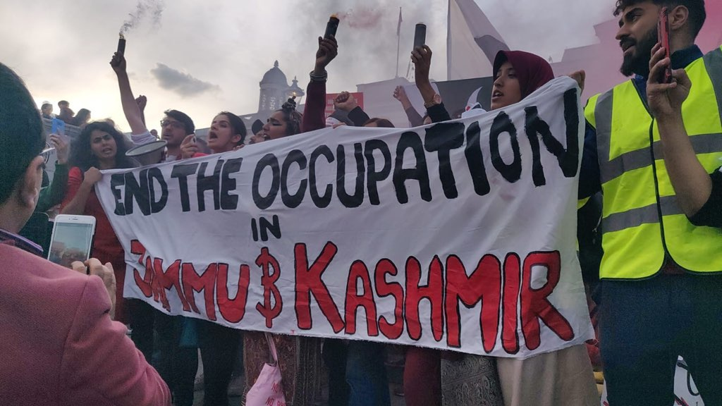 Kashmir occupation protests in London last year
