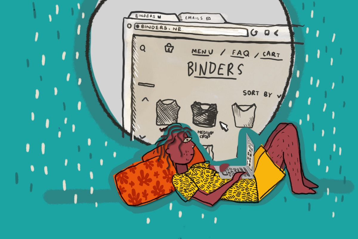 How my first binder in my 30s is helping my body feel more aligned with my gender