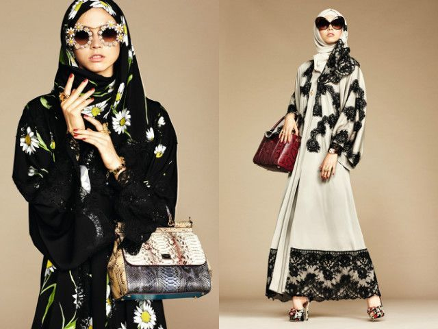 Dolce & Gabbana seem to be using a white-passing model for their new hijab collection