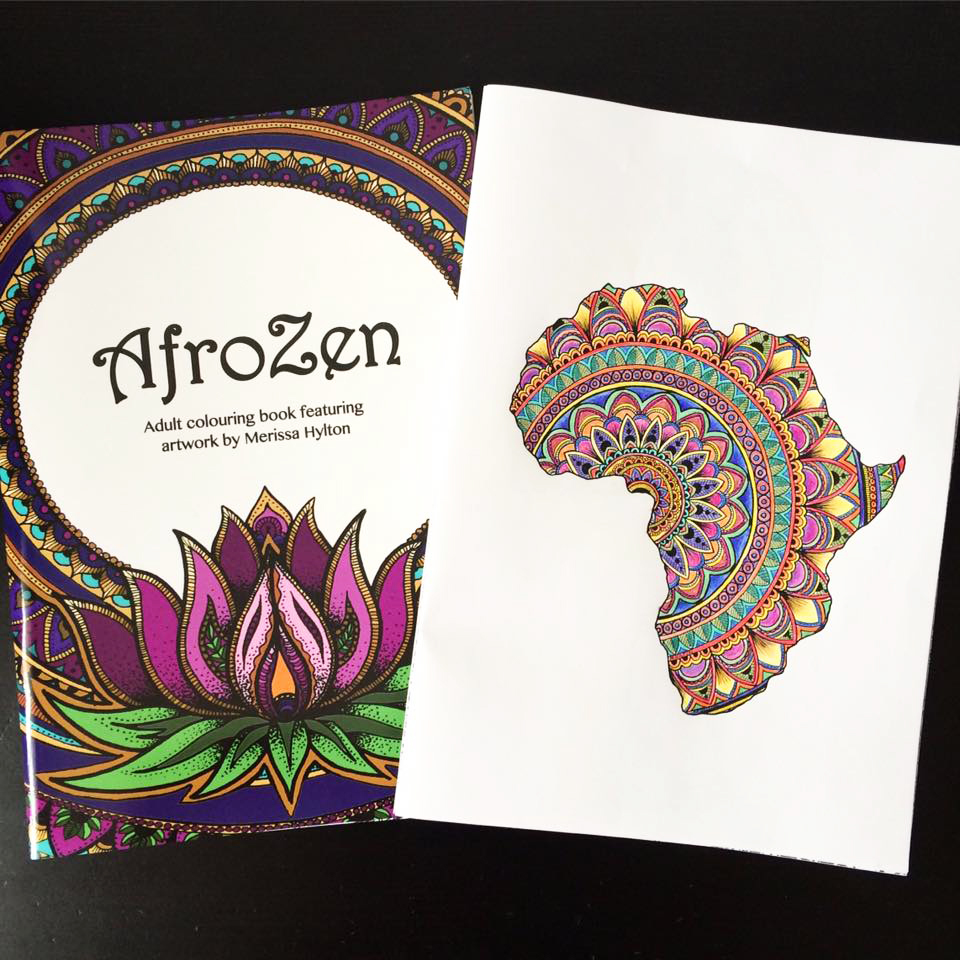 AfroZen – the Afro-centric colouring book for grown-ups