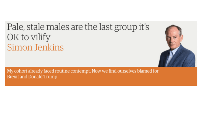 An open letter to Simon Jenkins, king of the pale stale males