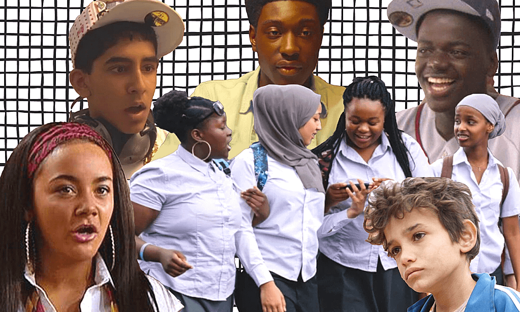 A collage showing British actors who have been found through open casting. From left to right - Chelsee Healey, Dev Patel, Afi Okaidja, Tawheda Begum, Bukky Bakray, Kosar Ali, Zain Al Rafeea and Daniel Kaluuya.