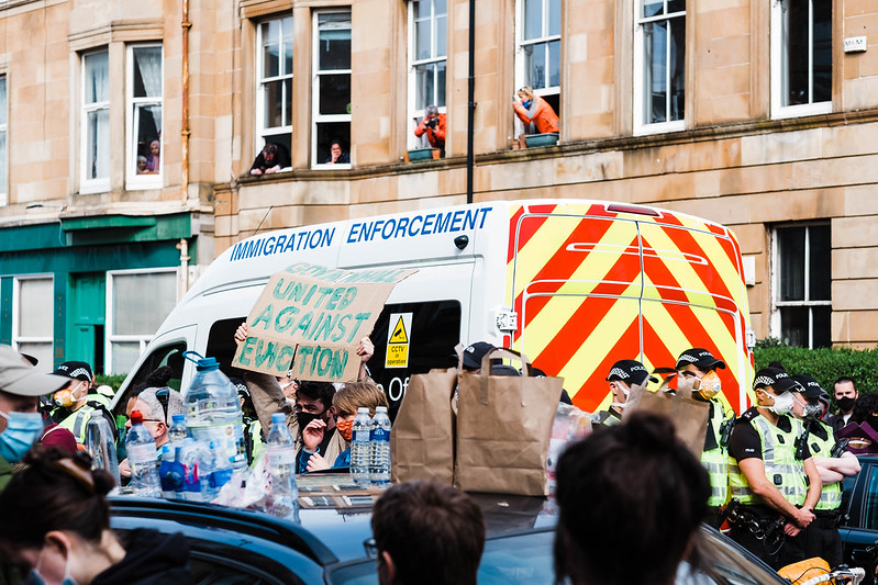 Here's what it was like to stop the Home Office deporting people in Glasgow