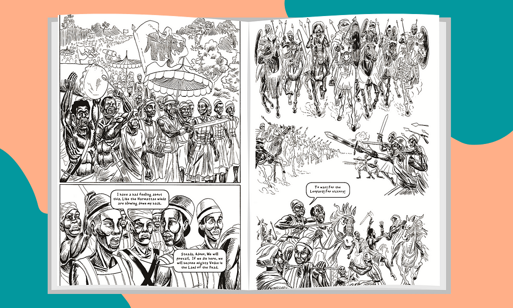 Image shows pages from the WAKE graphic novel