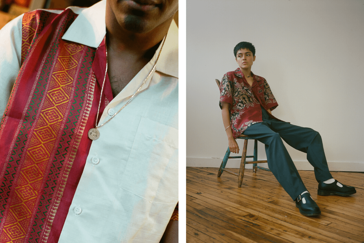SAMAVAI is transforming cherished family saris into beautiful, sustainable shirts